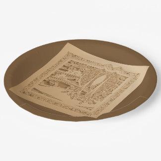 An Autumn Wind Paper Plate