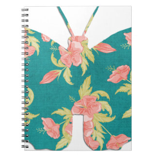 an awesome vintage butterfly spiral note book
