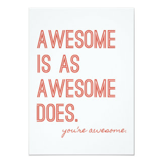 """An Awesomely Awesome Party 5"""" X 7"""" Invitation Card"""