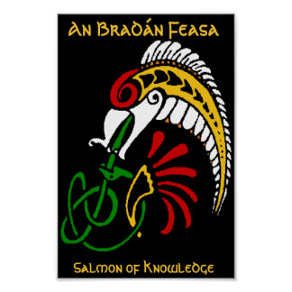 An Bradán Feasa - The Salmon of Knowledge Poster