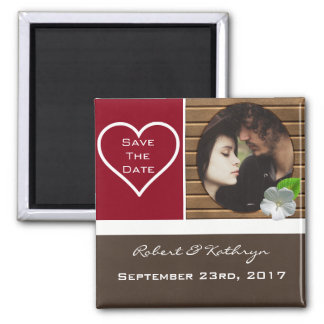 """An Earthy Elegance """"Save the Date"""" Wedding Magnet"""
