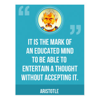 An Educated Mind Quote Postcard