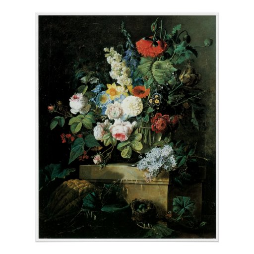 An Elaborate Still Life of Flowers, 1796 Poster
