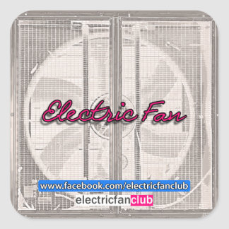An Electric Fan Club Sticker