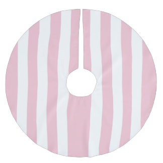 An elegant, Christmas Candy pink Brushed Polyester Tree Skirt