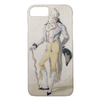 An Elegant Male Figure, 1793 (pencil and w/c on pa iPhone 7 Case