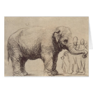 An Elephant by Rembrandt Card