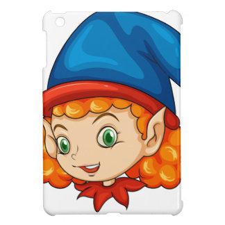 An elf wearing a blue hat cover for the iPad mini