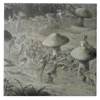 An Elfin Dance by Night, illustration from 'In Fai Ceramic Tiles