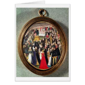 An Elizabethan Maundy Ceremony, c.1560 (w/c on vel Card