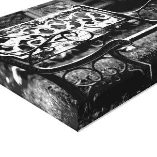 An Empty Bench Canvas Print