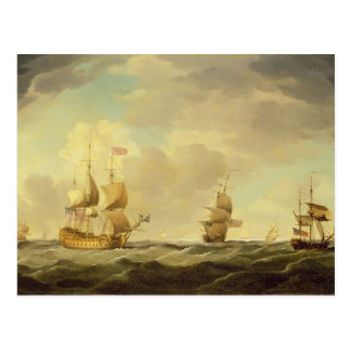 An English Flagship Under Easy Sail in a Moderate Postcard