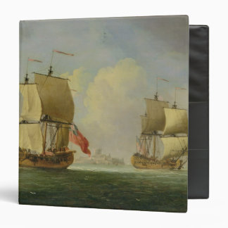 An English Sloop and a Frigate in a Light Breeze ( Binder