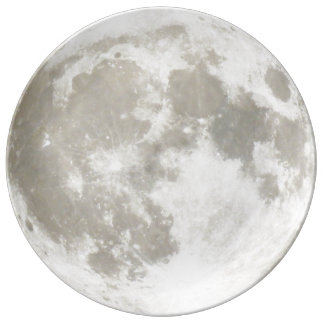 An entire moon. plate