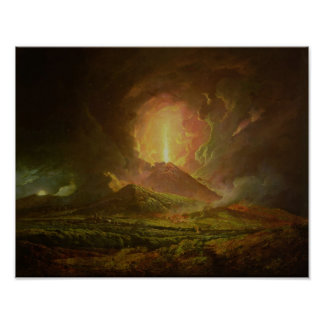 An Eruption of Vesuvius, seen from Portici Poster