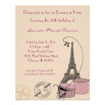 An Evening in Paris Pink Themed Party Invitation