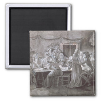 An Evening Wedding Meal Square Magnet