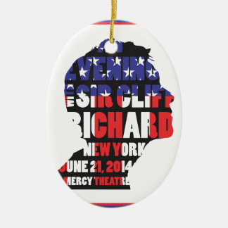 An Evening with Sir Cliff Richard Ceramic Ornament