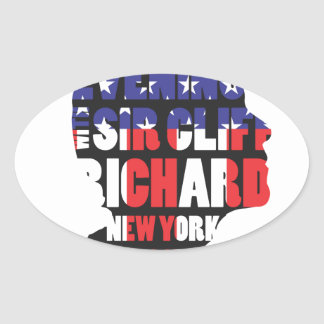 An Evening with Sir Cliff Richard Oval Sticker