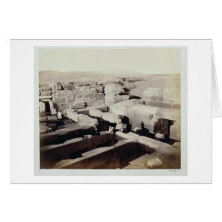 An Excavated Temple at the foot of the Sphinx, 4th Card