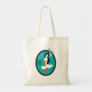An exotic girl tote bag
