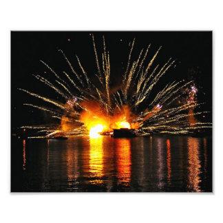 An Explosive Reflection Photo Print