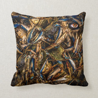 An Eye For Crab Throw Pillow