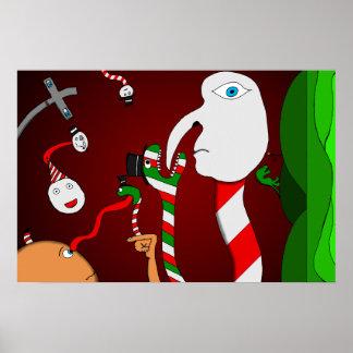 An Eye-Lickshous Wonderland Poster