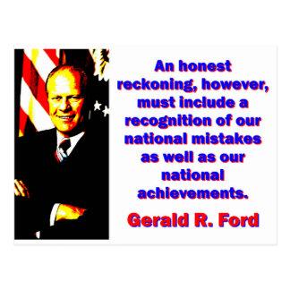 An Honest Reckoning - Gerald Ford Postcard