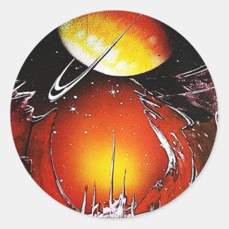 An IMAGINARY PLANET 1.JPG Classic Round Sticker