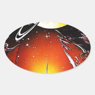 An IMAGINARY PLANET 1.JPG Oval Sticker