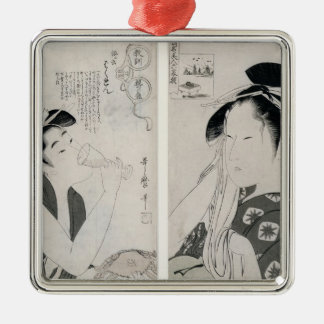 An impertinent woman,series Kyokun oya no Silver-Colored Square Ornament