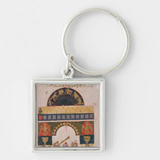 An Indian astrological chart Key Chains