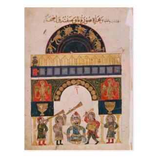 An Indian astrological chart Postcard