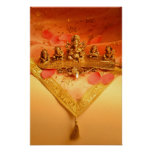 An Indian lamp with Ganesha Idol Poster
