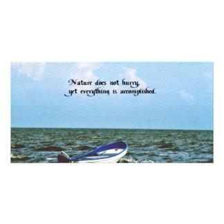 An inspirational message custom photo card