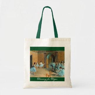 An inspiring Dancing for Degas budget tote bag.