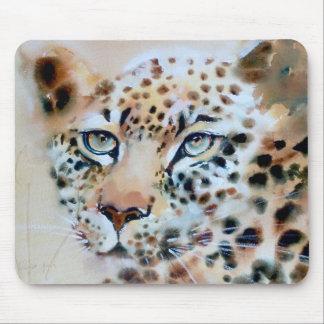 """An Intense Focus"" Leopard Print Mouse Pad"