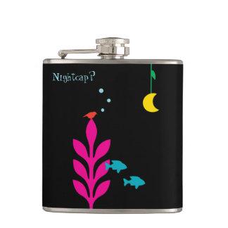 An Interesting Night Customizable Template Hip Flask