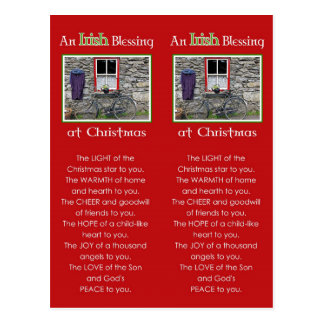 An Irish Blessing at Christmas Bookmark Postcard