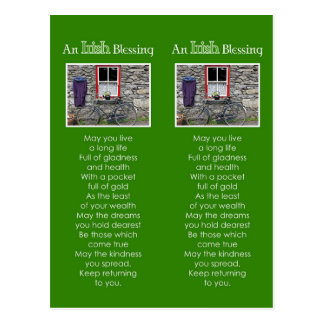 An Irish Blessing Bookmark Postcard