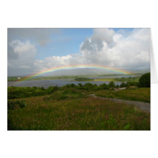An Irish Blessing, Rainbow over Lake in Ireland Card