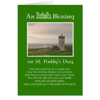 An Irish Blessing St. Patrick's Day-Custom Photo Card