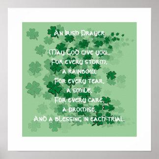 An Irish Prayer - Every Tear -A Smile Poster