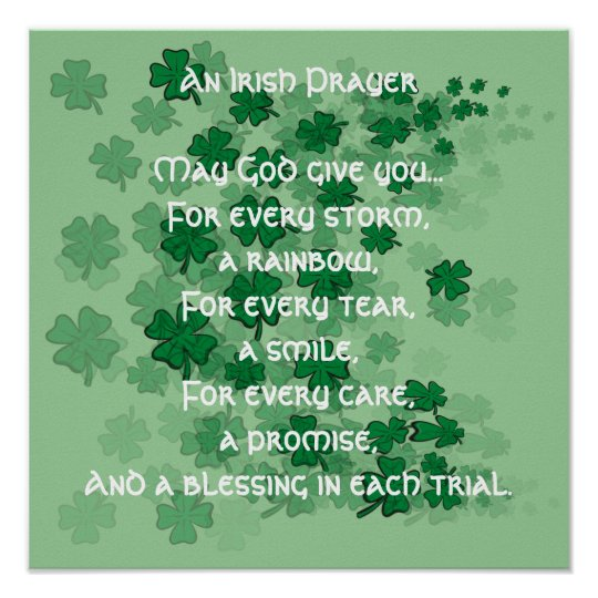 An Irish Prayer - Every Tear -A Smile Poster