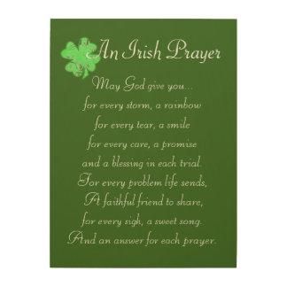 An Irish Prayer Wood Wall Decor