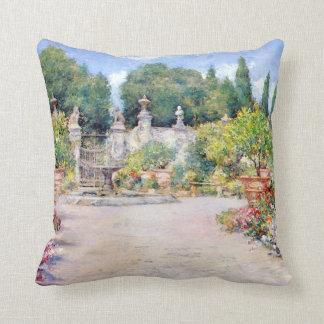An Italian Garden - William Merritt Chase, 1909 Throw Pillow