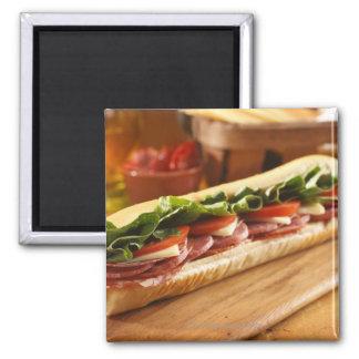 An Italian sub sandwich with 2 Magnet