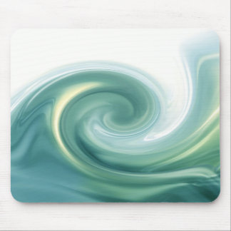 An ocean of green waves mouse pad
