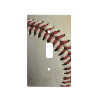 An Old Baseball Light Switch Cover